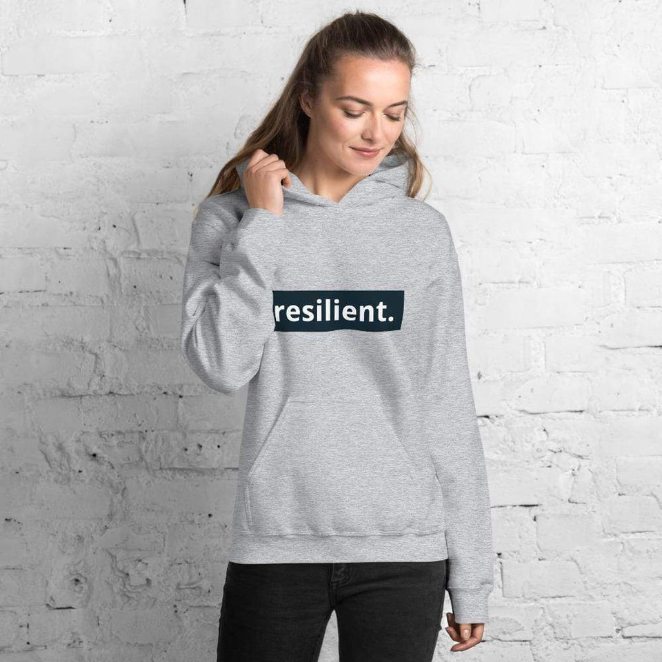 Resilient Hoodie Sport Grey / S Political-Activist-Socialist-Fashion -Art-And-Design