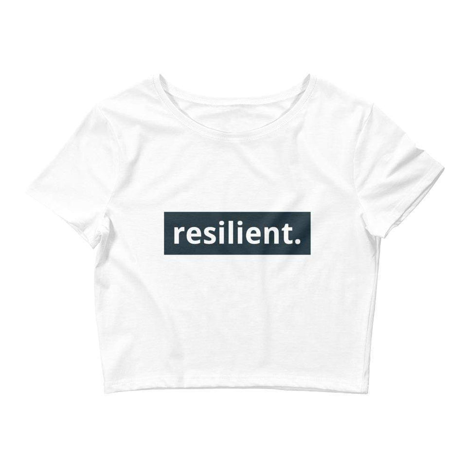 Resilient Women's Crop Tee Political-Activist-Socialist-Fashion -Art-And-Design