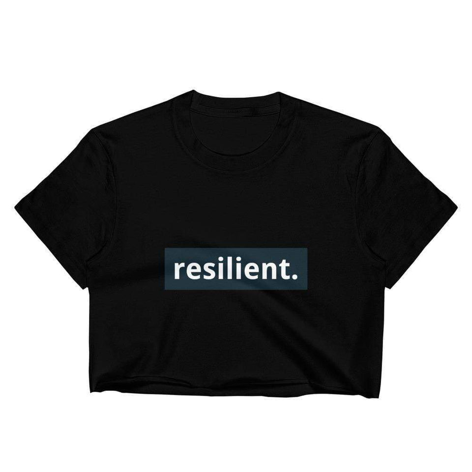 Resilient Crop Top Black / M Political-Activist-Socialist-Fashion -Art-And-Design