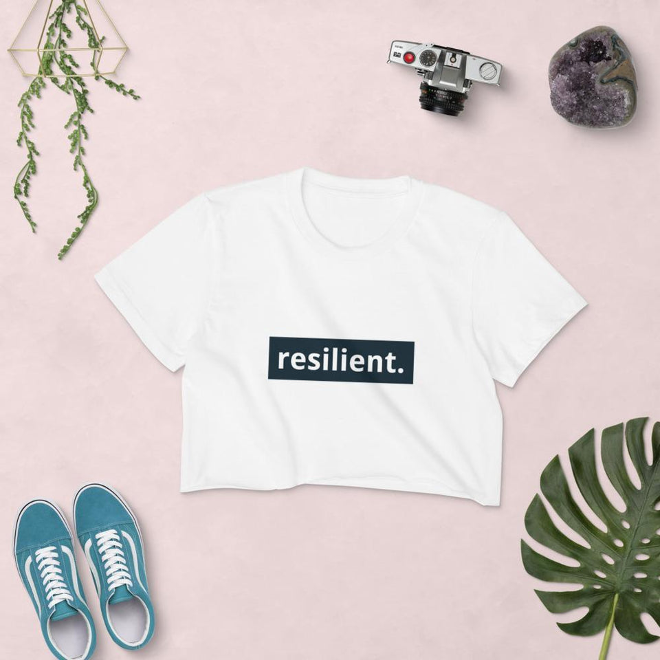Resilient Crop Top Political-Activist-Socialist-Fashion -Art-And-Design
