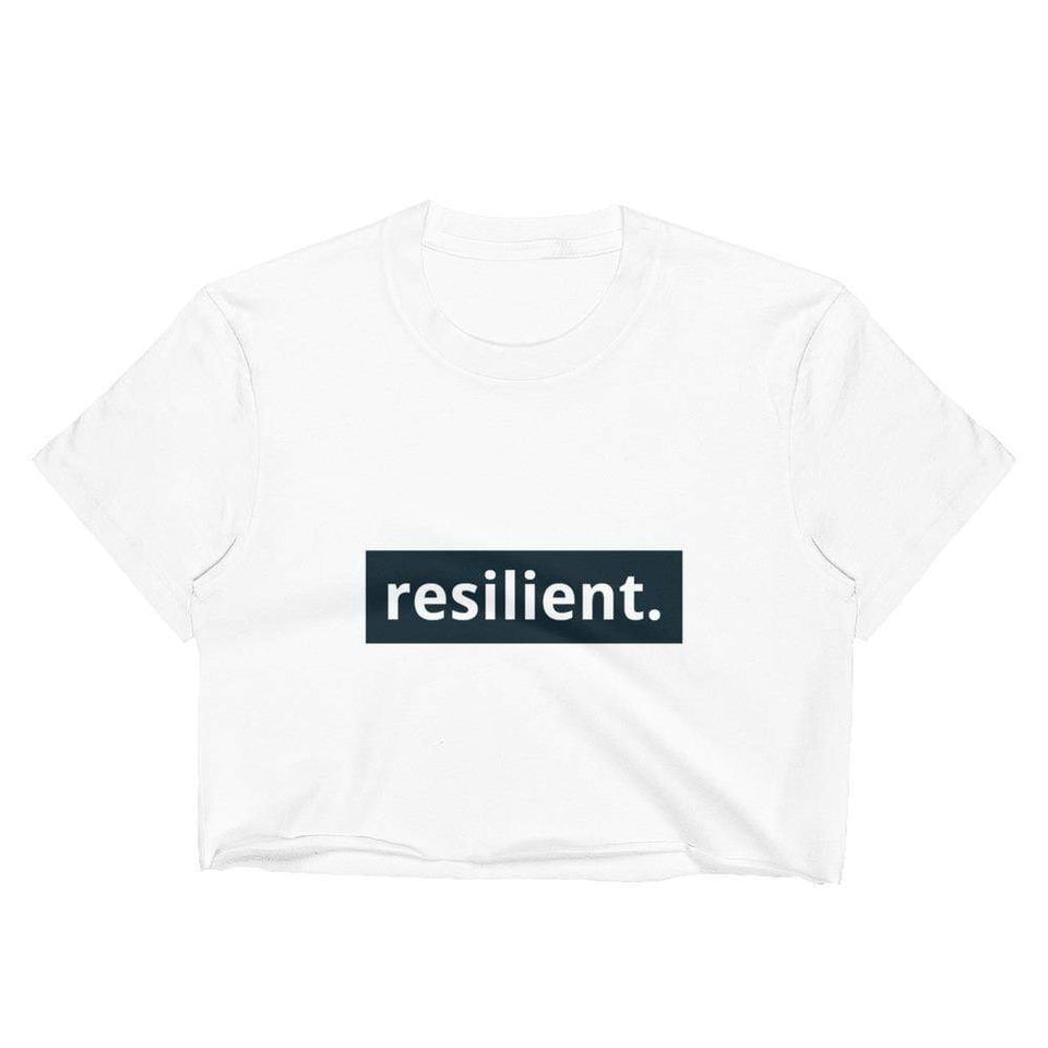 Resilient Crop Top White / S Political-Activist-Socialist-Fashion -Art-And-Design