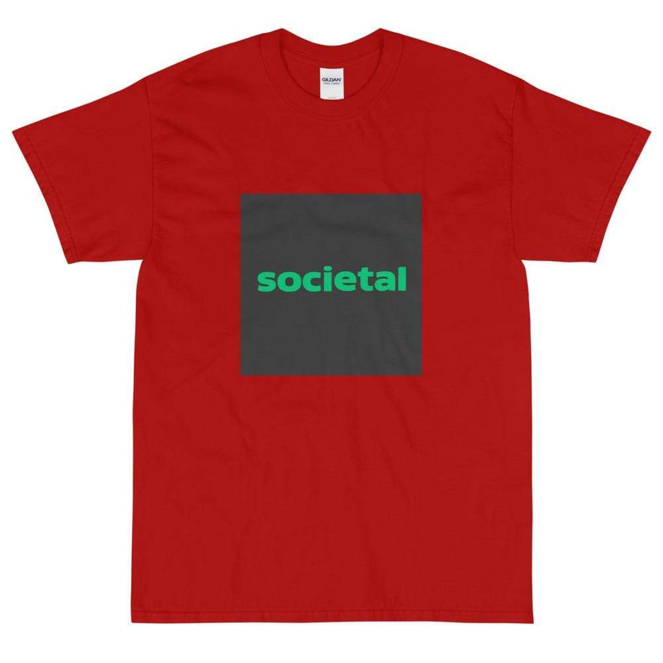Societal Short Sleeve T-Shirt Red / S Political-Activist-Socialist-Fashion -Art-And-Design