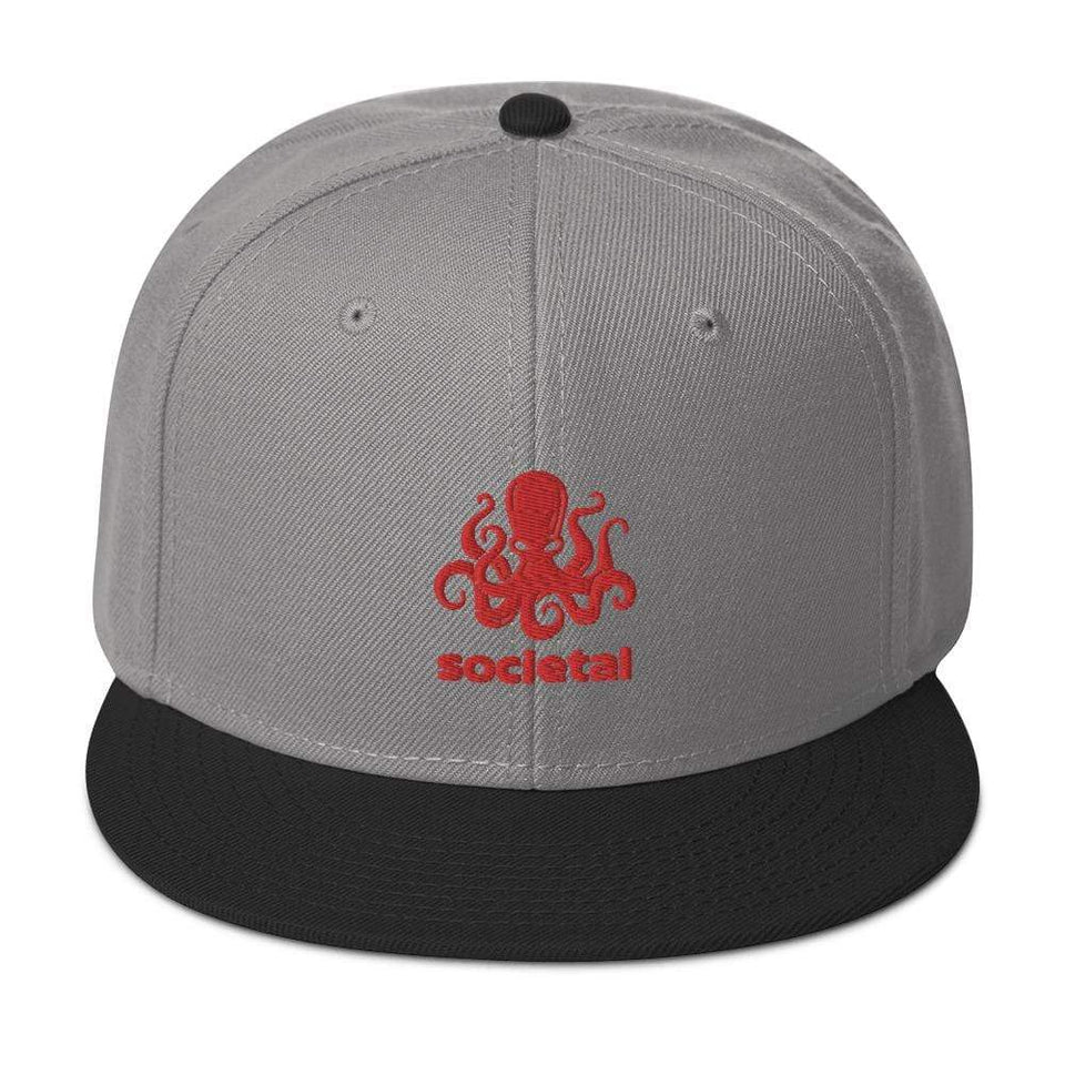Societal Snapback Hat Black / Gray / Gray Political-Activist-Socialist-Fashion -Art-And-Design