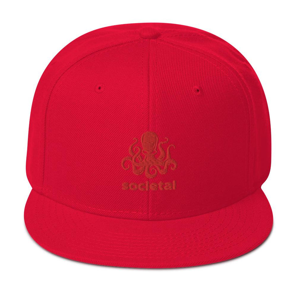 Societal Snapback Hat Red Political-Activist-Socialist-Fashion -Art-And-Design