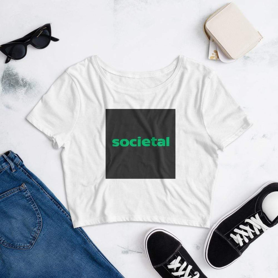 Societal Women's Crop Tee Political-Activist-Socialist-Fashion -Art-And-Design