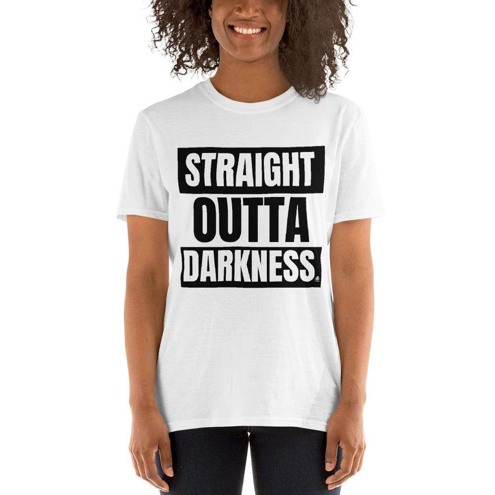 Straight Outta Darkness Societal Short-Sleeve Unisex T-Shirt White / S Political Clothing