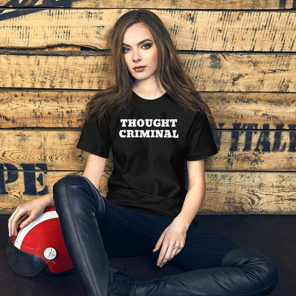 Thought Criminal T-Shirt Black / XS Political-Activist-Socialist-Fashion -Art-And-Design