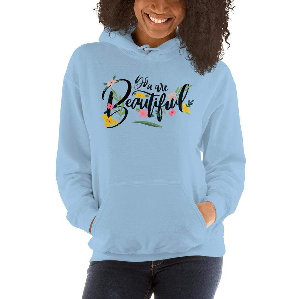 You Are Beautiful Hoodie Light Blue / S Political-Activist-Socialist-Fashion -Art-And-Design