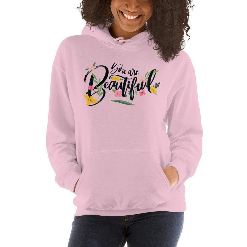 You Are Beautiful Hoodie Light Pink / S Political-Activist-Socialist-Fashion -Art-And-Design