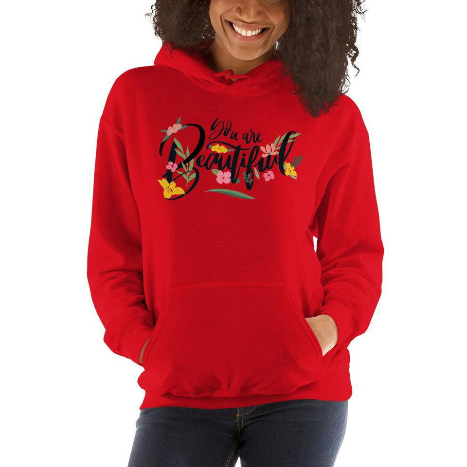 You Are Beautiful Hoodie Red / S Political-Activist-Socialist-Fashion -Art-And-Design
