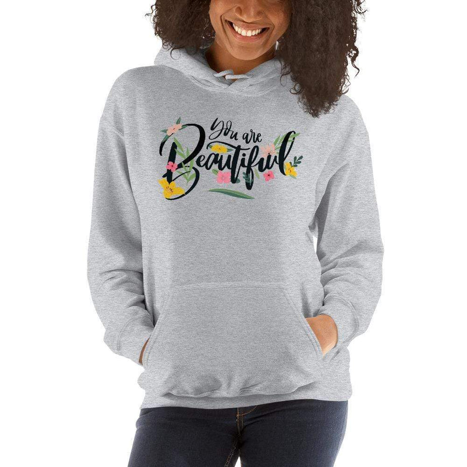 You Are Beautiful Hoodie Sport Grey / S Political-Activist-Socialist-Fashion -Art-And-Design