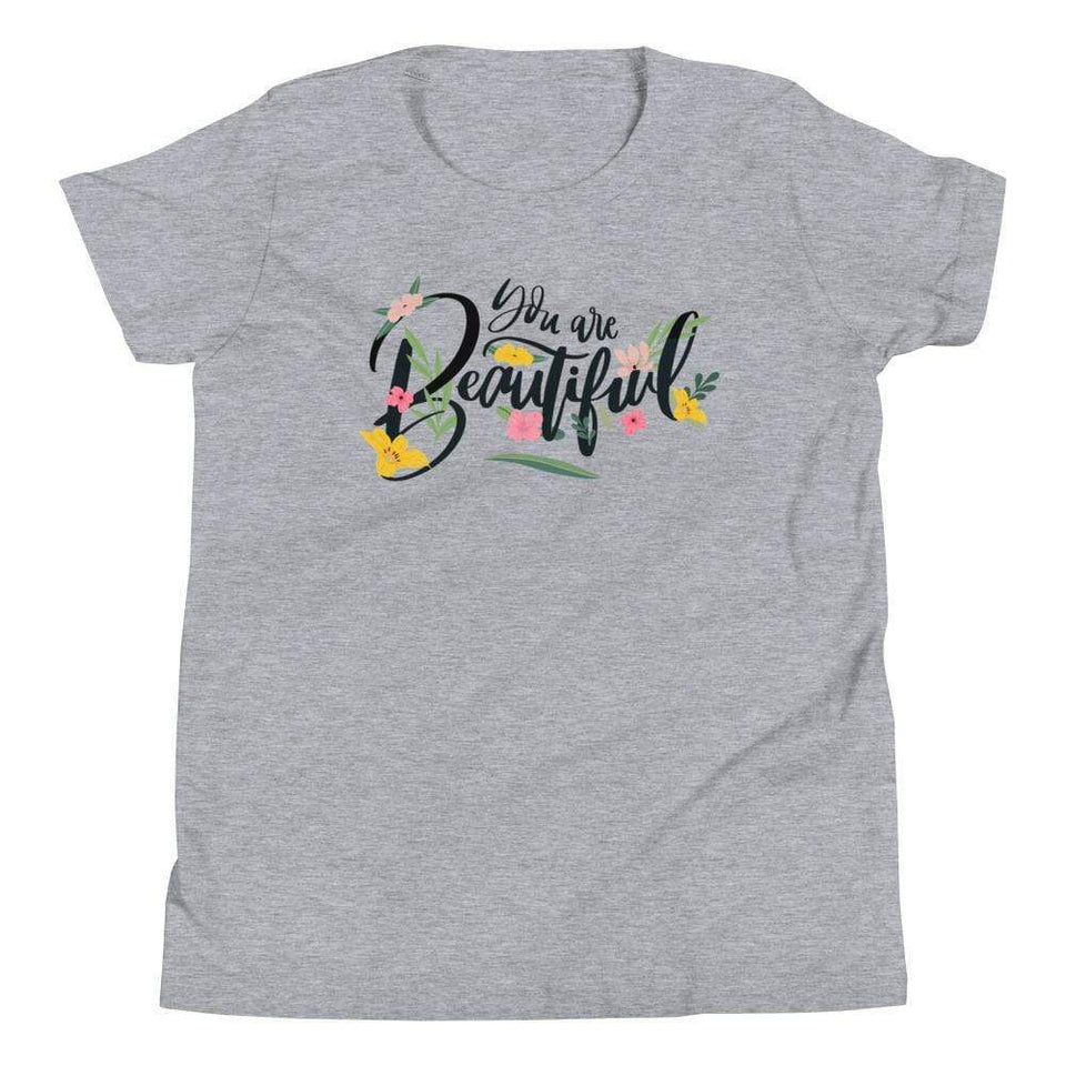 You Are Beautiful T-Shirt Athletic Heather / S Political-Activist-Socialist-Fashion -Art-And-Design