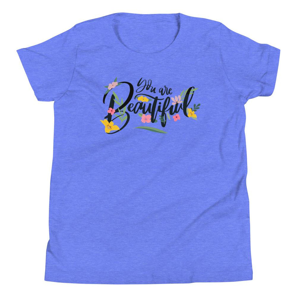 You Are Beautiful T-Shirt Heather Columbia Blue / S Political-Activist-Socialist-Fashion -Art-And-Design