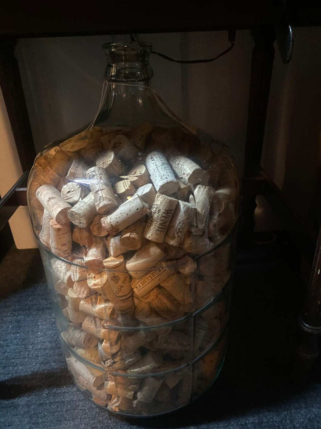 Demijohn full of corks