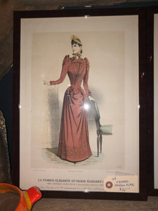 Framed fashion plate