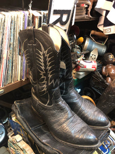 Cowboy boots, Nucona black leather size 12