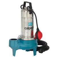 Calpeda GQV 50 Submersible Pumps with Free Flow Vortex Impeller with Built-in Capacitor & Thermal Protection, 10m Cable & Float Switch - Single Phase Motor