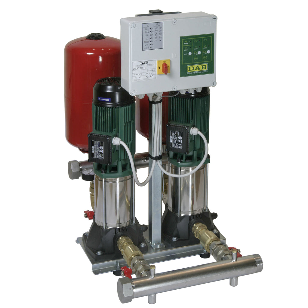 DAB 2 KVC Sets with 2 Vertical Multistage Centrifugal Pumps