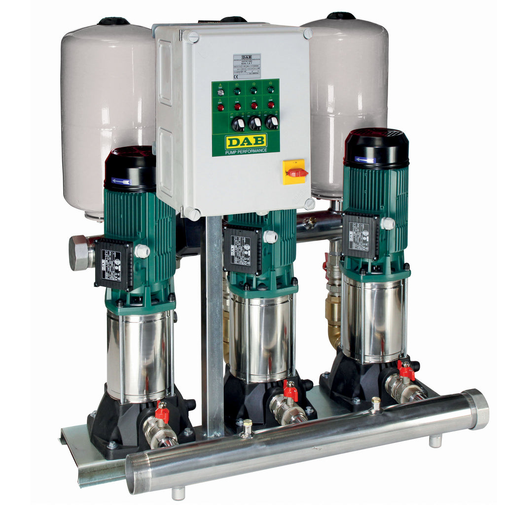 DAB 3 KVC Sets with 3 Vertical Multistage Centrifugal Pumps