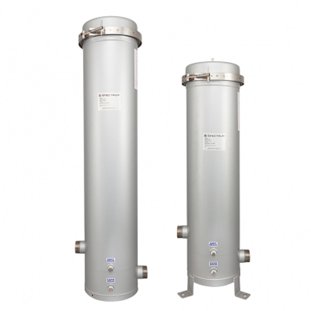 Spectrum Stainless Steel 5/7/12 Round Filter Housing