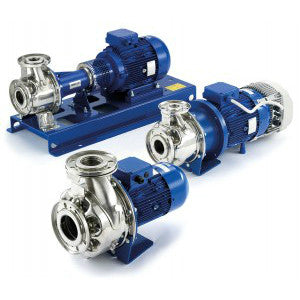 Lowara End Suction Centrifugal Pumps in 316 Stainless Steel - Series e-SH-1450rpm Three Phase (400/3/50) DN 25