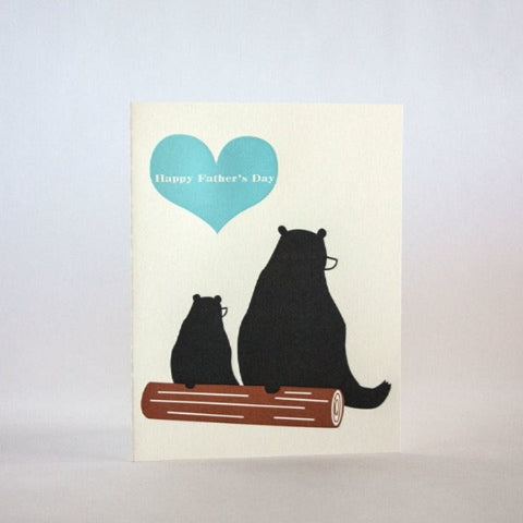 Father's Day Bears on a Log Card