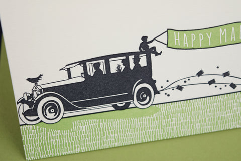 Marriage Car Congratulations Card
