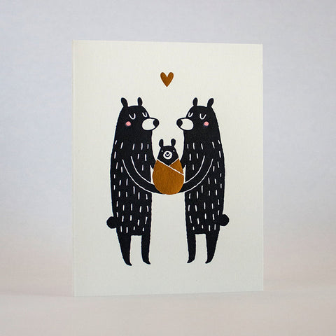 Baby Black Bear Card