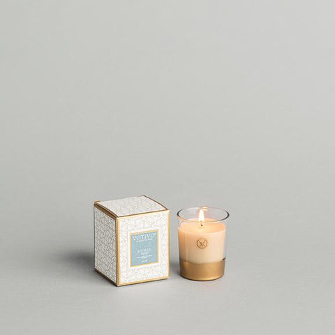 Holiday Votive, Icy Blue Pine