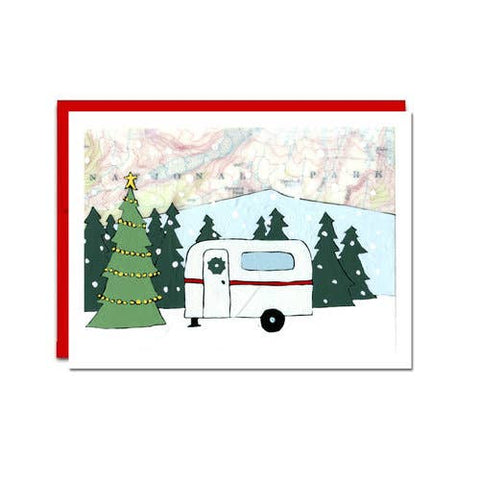 Card Set of 6, Holiday Camper