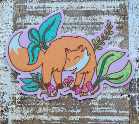 Woodland Fox Sticker