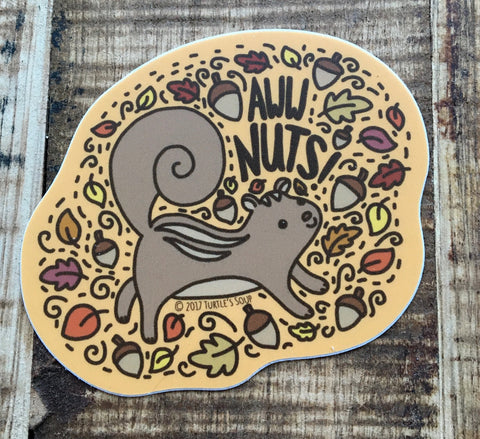 Aw, Nuts! Squirrel Sticker