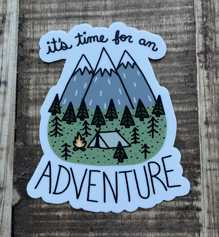 Time for an Adventure Sticker