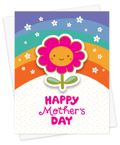 Sticker Card, Mom Blossom