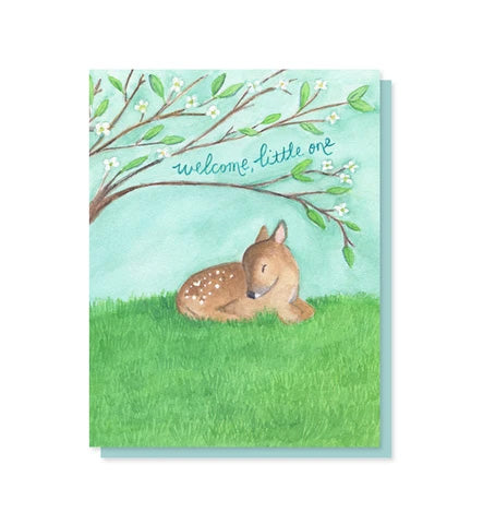 Card, Welcome Little One Deer