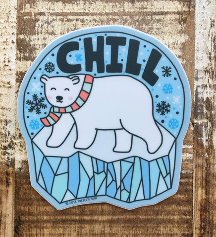 Sticker, Chill Polar Bear