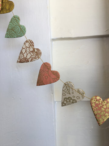 Paper Garland Mini Hearts