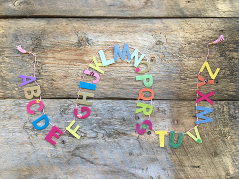 Paper Garland, Mini Alphabet