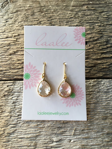 Earrings, Crystal Clear & Gold