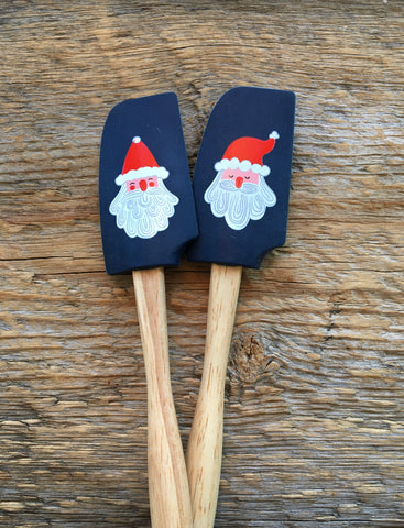 Mini Spatulas, Santa Clause Set of 2