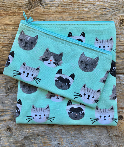 Snack Bags Set of 2, Cats