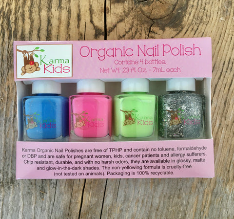Kids Set of 4 Nail Polish Collection 1