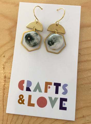 Nia Ocean Jasper Earrings