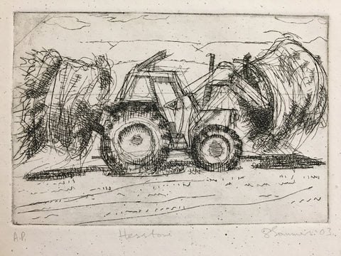 """Hesston"" Tractor Etching"