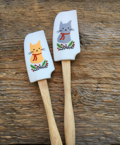 Mini Spatulas, Jingle Cat Set of 2