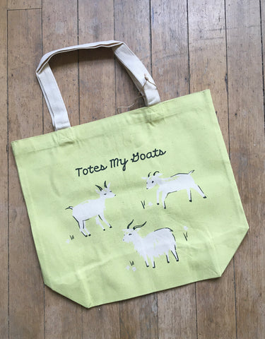 Canvas Tote, Totes My Goats