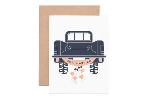 Just Married Truck card