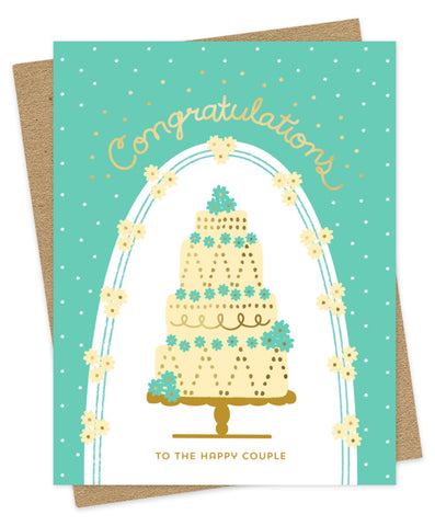 Foil Stamped Card, Wedding Cake