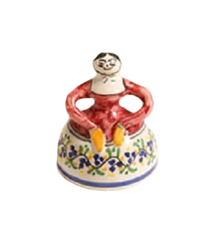Ceramic Bell In The Shape of a Senorita - Small sized