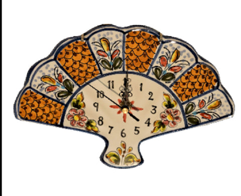Fan Shaped Wall Clock